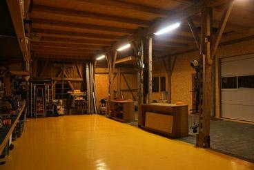 Werkstatt mit Reflektor