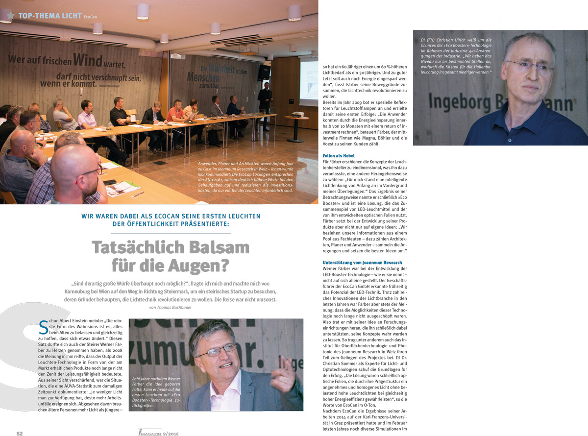 EcoCan im i-Magazin 9/2016